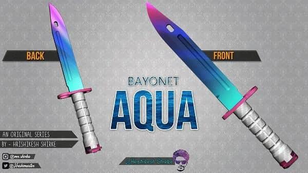 Модель ножа Bayonet | Aqua для CS:GO