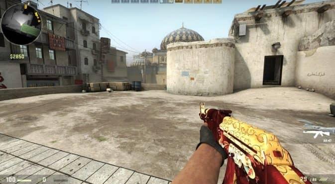AK47 Red-Gold Dragon для кс го