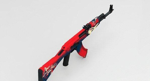 Модель оружия AK-47 Red Force для CS:GO