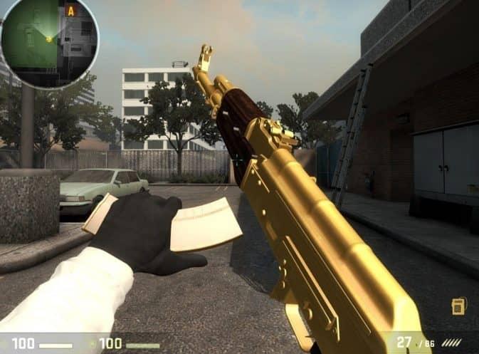Gold AK-47 для кс го